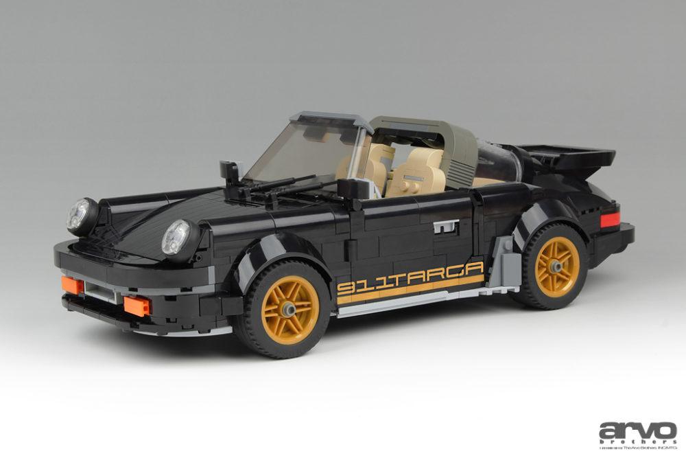lego porsche moc 911 targa in schwarz und gold. Black Bedroom Furniture Sets. Home Design Ideas