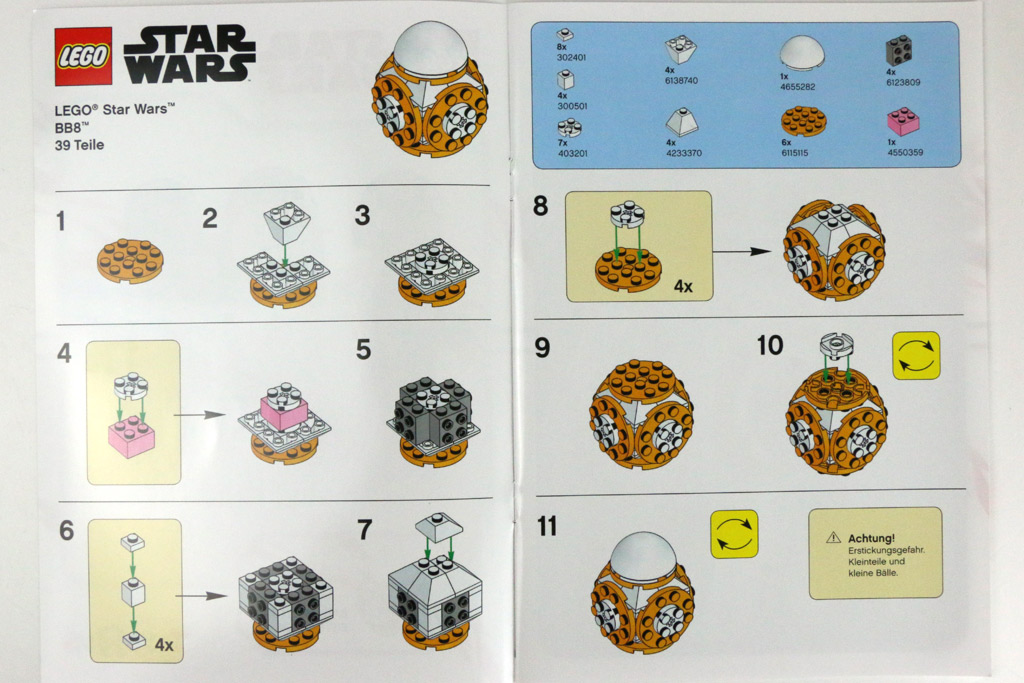 toysrus bau event lego star wars bb 8 im review und bauanleitung zusammengebaut. Black Bedroom Furniture Sets. Home Design Ideas