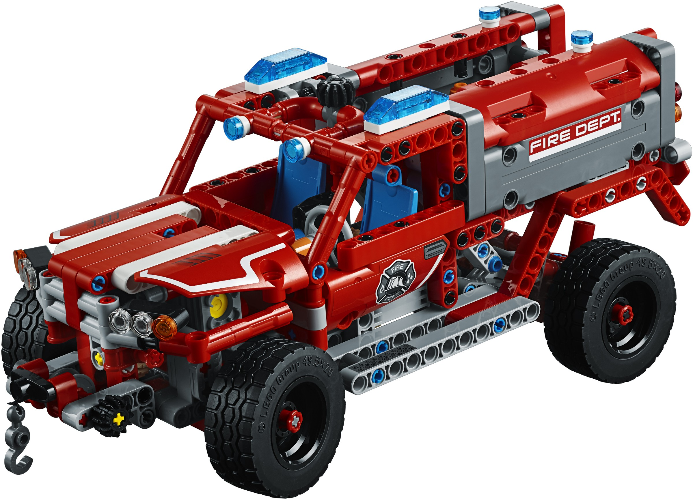 lego technic 2018 rally car 42077 fire truck 42075 und. Black Bedroom Furniture Sets. Home Design Ideas