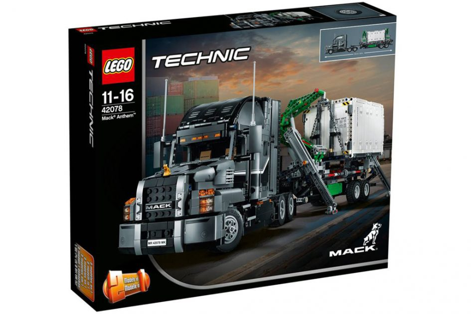 lego technic 2018 mack truck 42078 vorgestellt. Black Bedroom Furniture Sets. Home Design Ideas