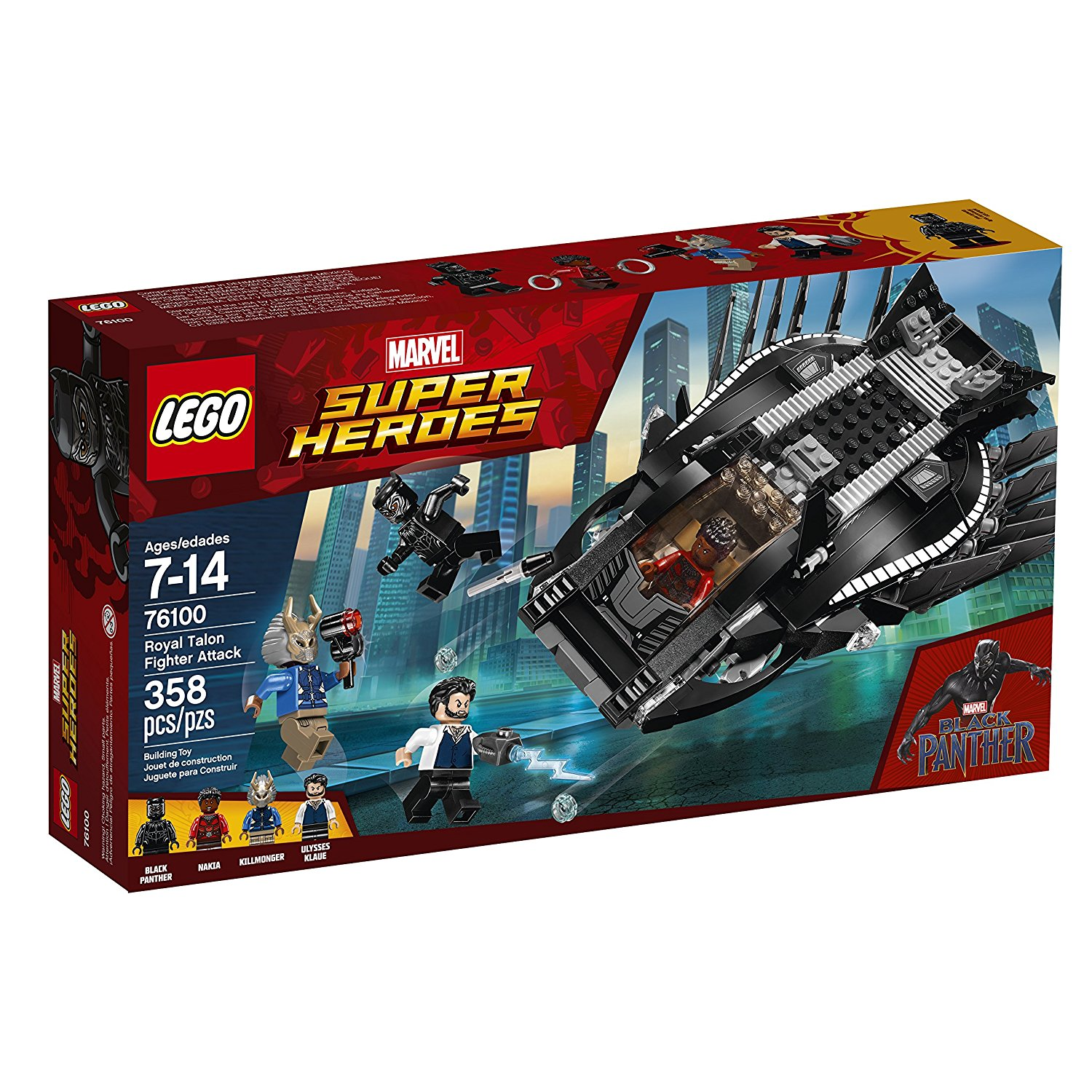 lego marvel super heroes 2018 black panther sets. Black Bedroom Furniture Sets. Home Design Ideas