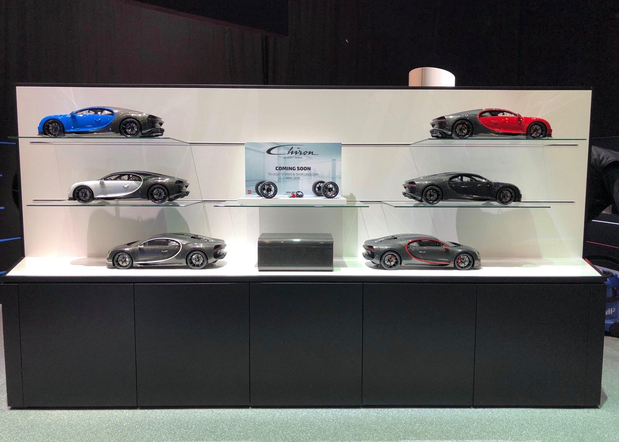 lego technic bugatti chiron 42083 sensation beim auto salon genf 2018 zusammengebaut. Black Bedroom Furniture Sets. Home Design Ideas