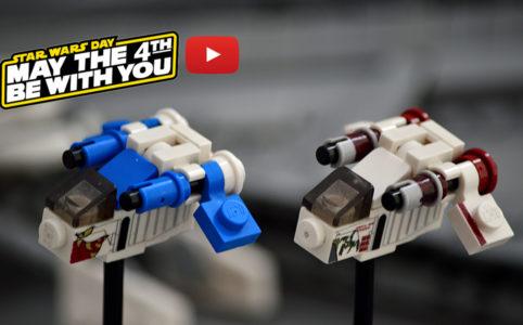 Microscale LEGO Star Wars Republic Gunship by Guy Smiley
