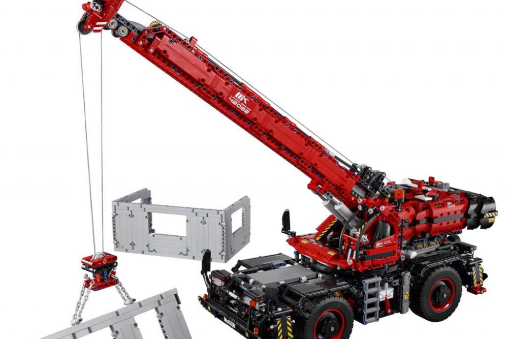 lego technic sommer 2018 neuheiten rough terrain crane. Black Bedroom Furniture Sets. Home Design Ideas