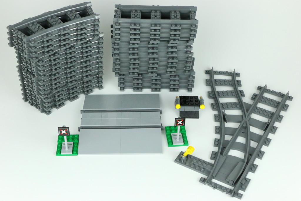 Lego Eisenbahn 60198 Schienen Gerade Mit Bahnübergang Prellbock