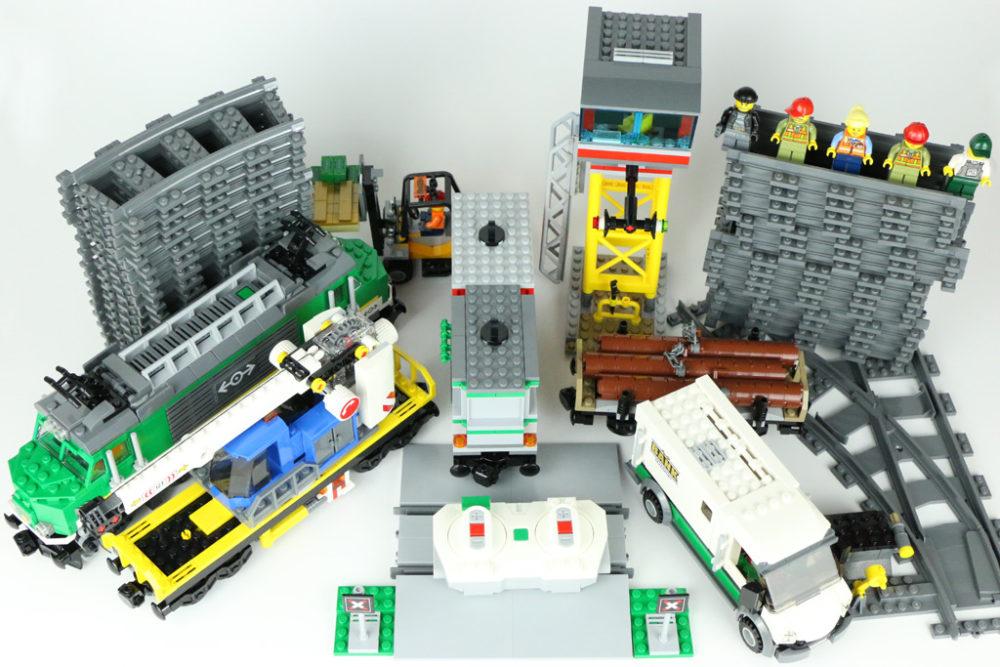 Lange Gerade 1 m kompatibel mit Lego City Eisenbahn