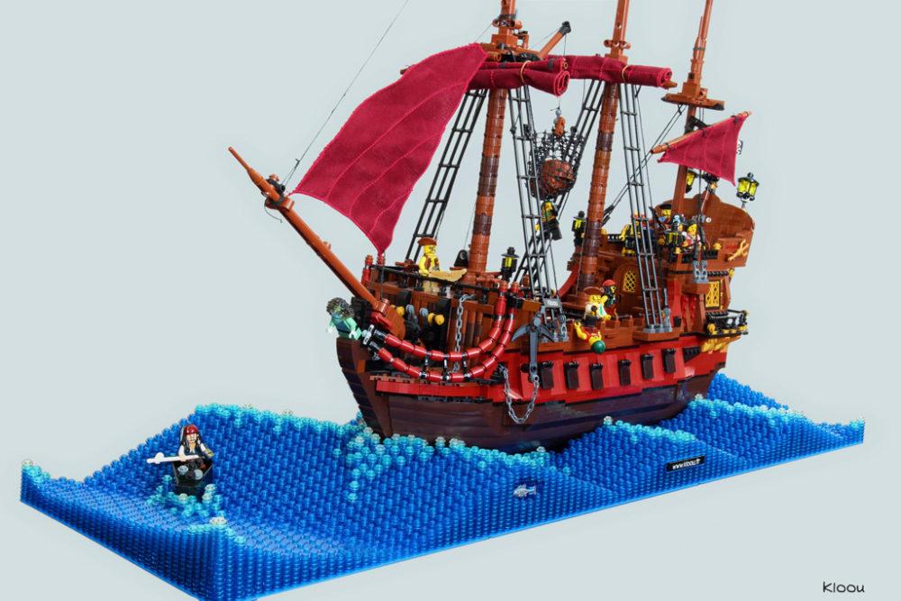 Extrem LEGO Piratenschiff und die stürmische See | zusammengebaut UM87