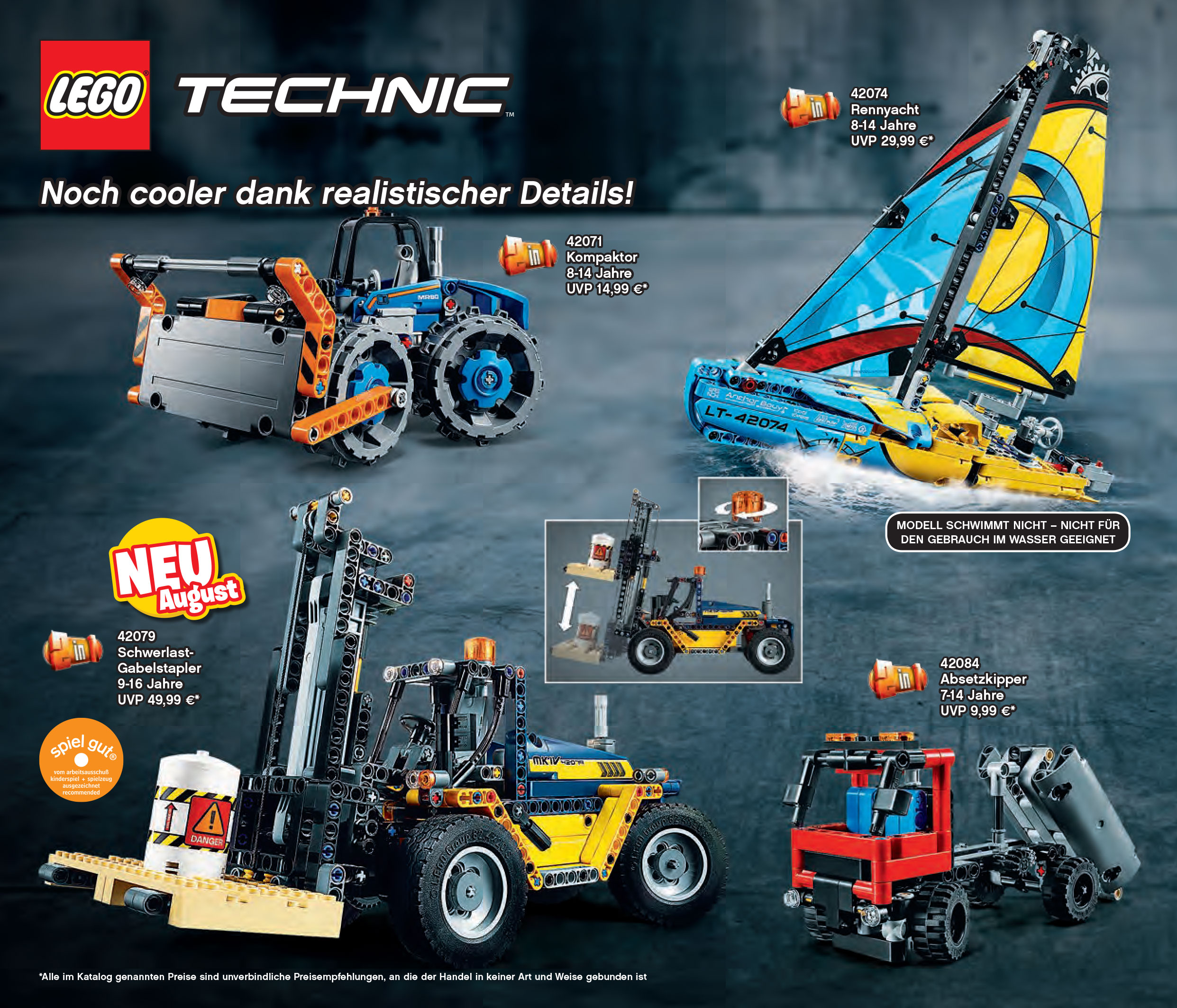 lego technic sommer neuheiten 2018 detailbilder und. Black Bedroom Furniture Sets. Home Design Ideas