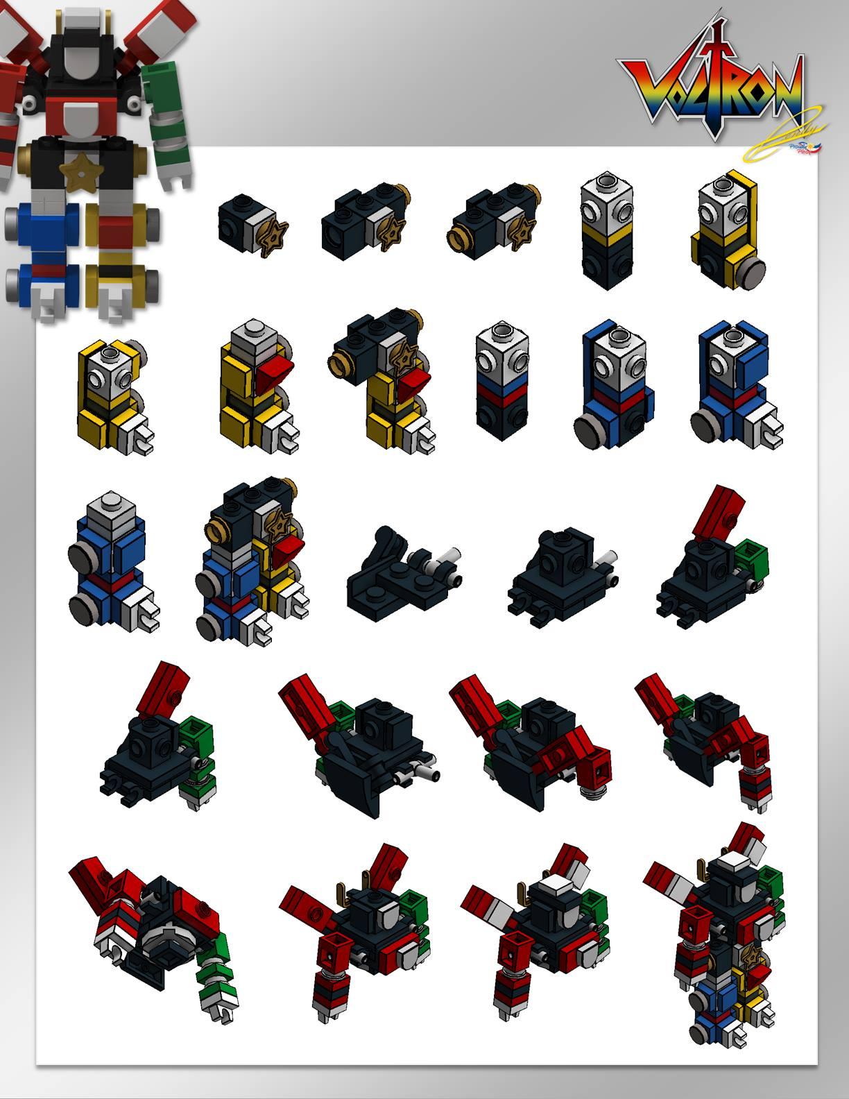 lego voltron als mini modell anleitung und teileliste zusammengebaut. Black Bedroom Furniture Sets. Home Design Ideas