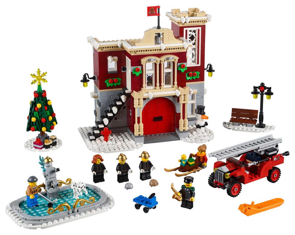 lego-creator-expert-winter-village-fire-station-inhalt-feuerwehr-10263-2018 zusammengebaut.com