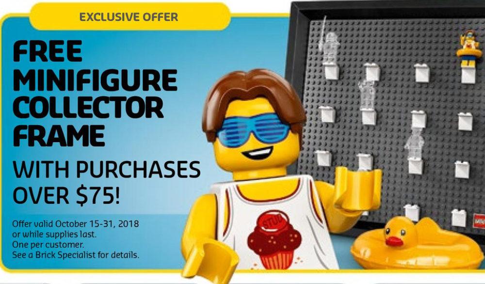 LEGO Store US-Flyer für Oktober: Minifiguren Bilderrahmen das ...