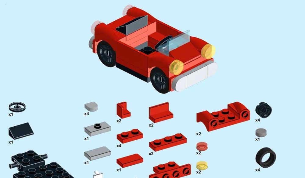 LEGO Mini Roadster Building Instructions by Chev_350