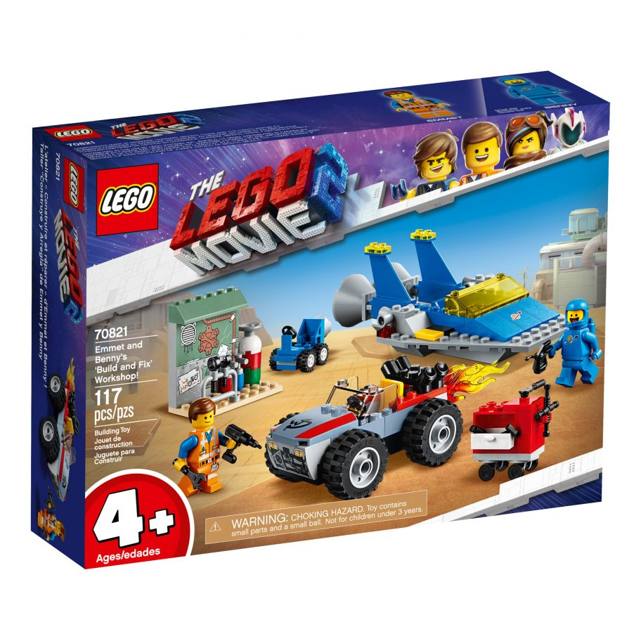 the-lego-movie-2-emmet-and -bennys-build-and-fix-workshop-70821-box-2019 zusammengebaut.com
