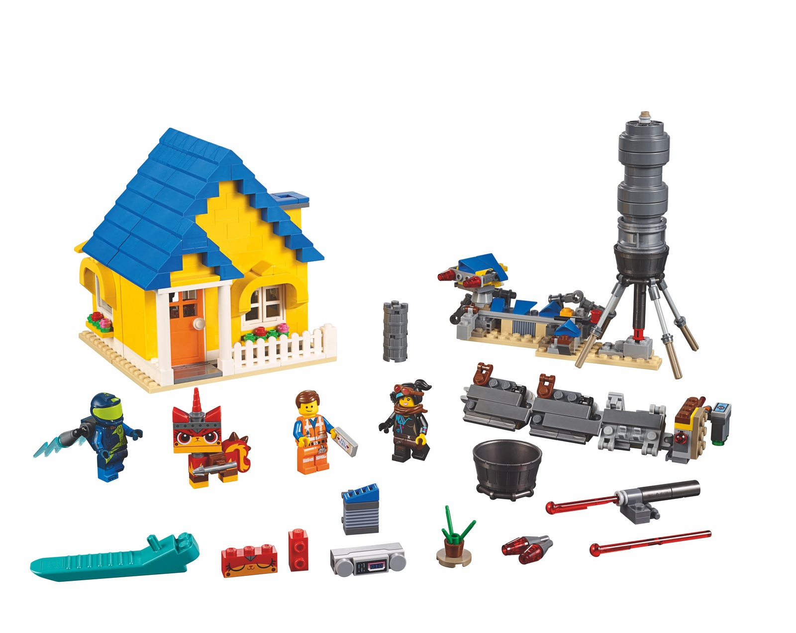 the-lego-movie-2-emmets-dream-house-and-rescue-rocket-70831-2019 zusammengebaut.com