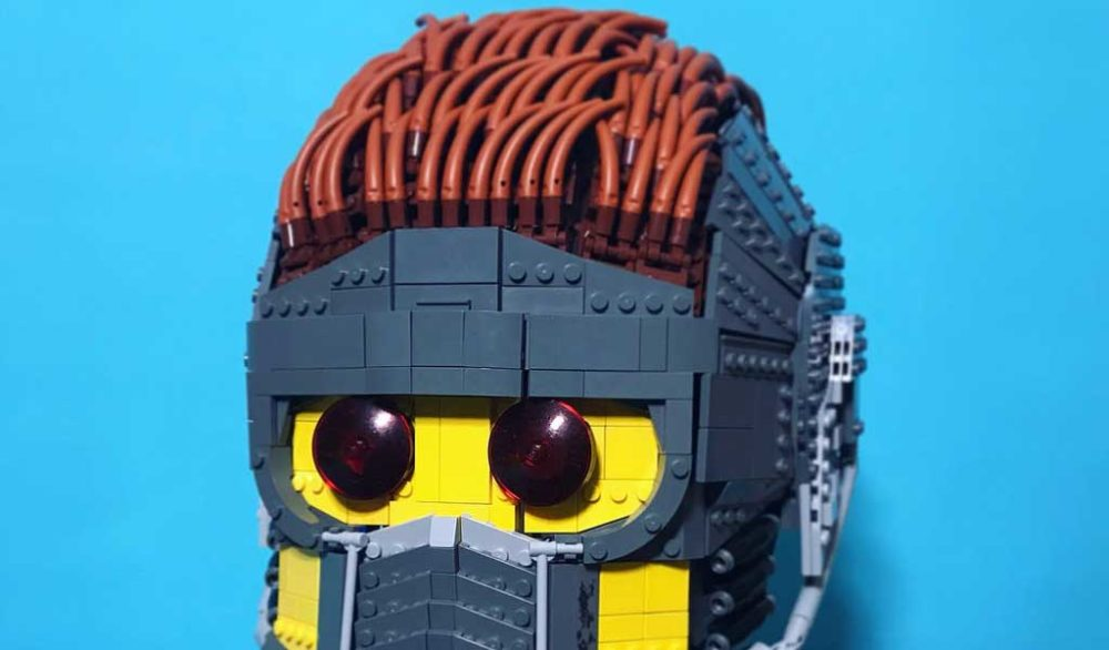 Lego Wearable Star-Lord Helmet by Brickatecture moc industries