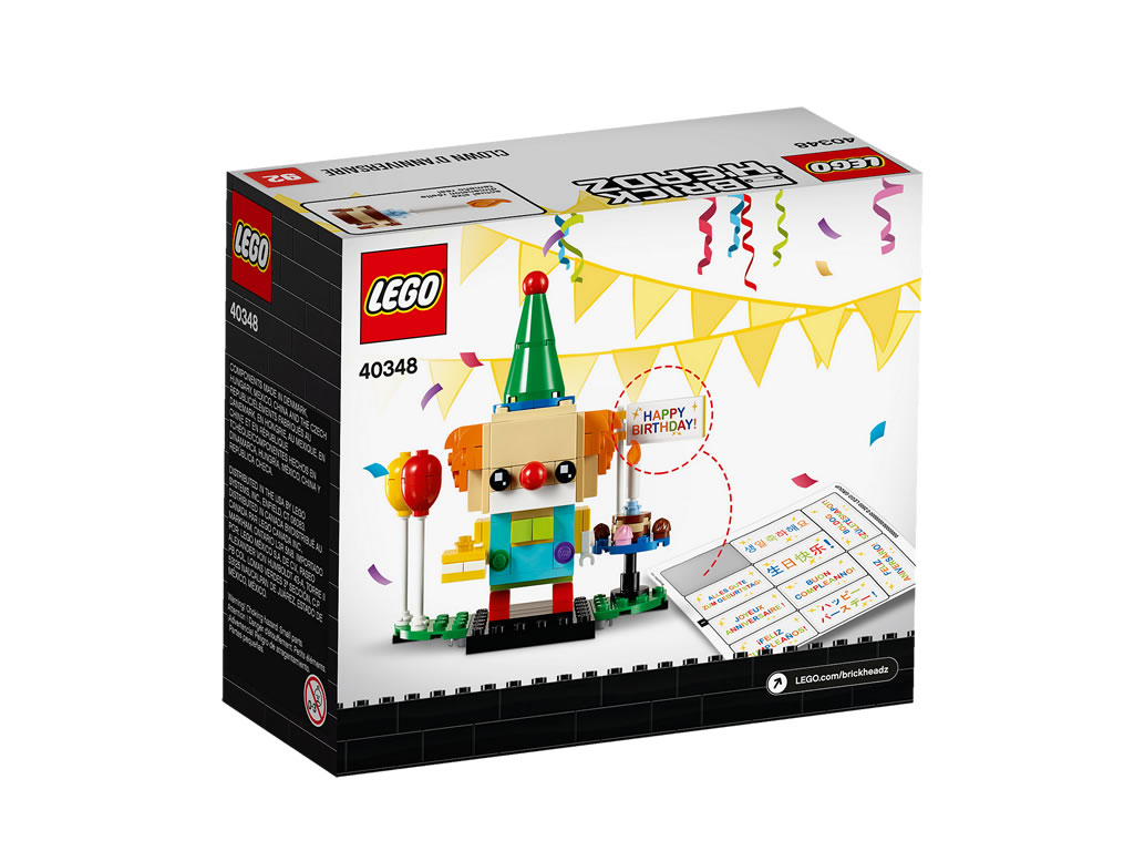 lego-brickheadz-birthday-clown-2019-40348-box-stickerbogen-rueckseite zusammengebaut.com