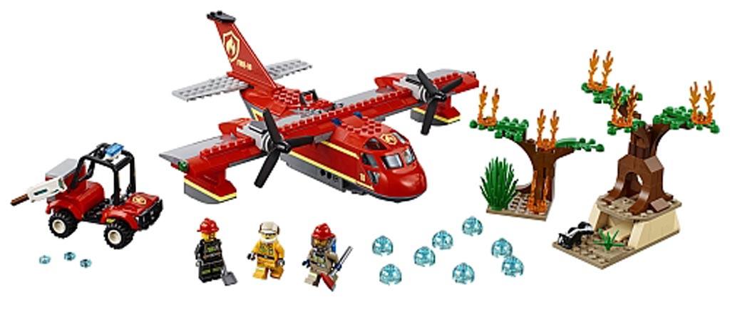 lego-city-feuerloeschflugzeug-60217-inhalt-fire-plane-2019 zusammengebaut.com