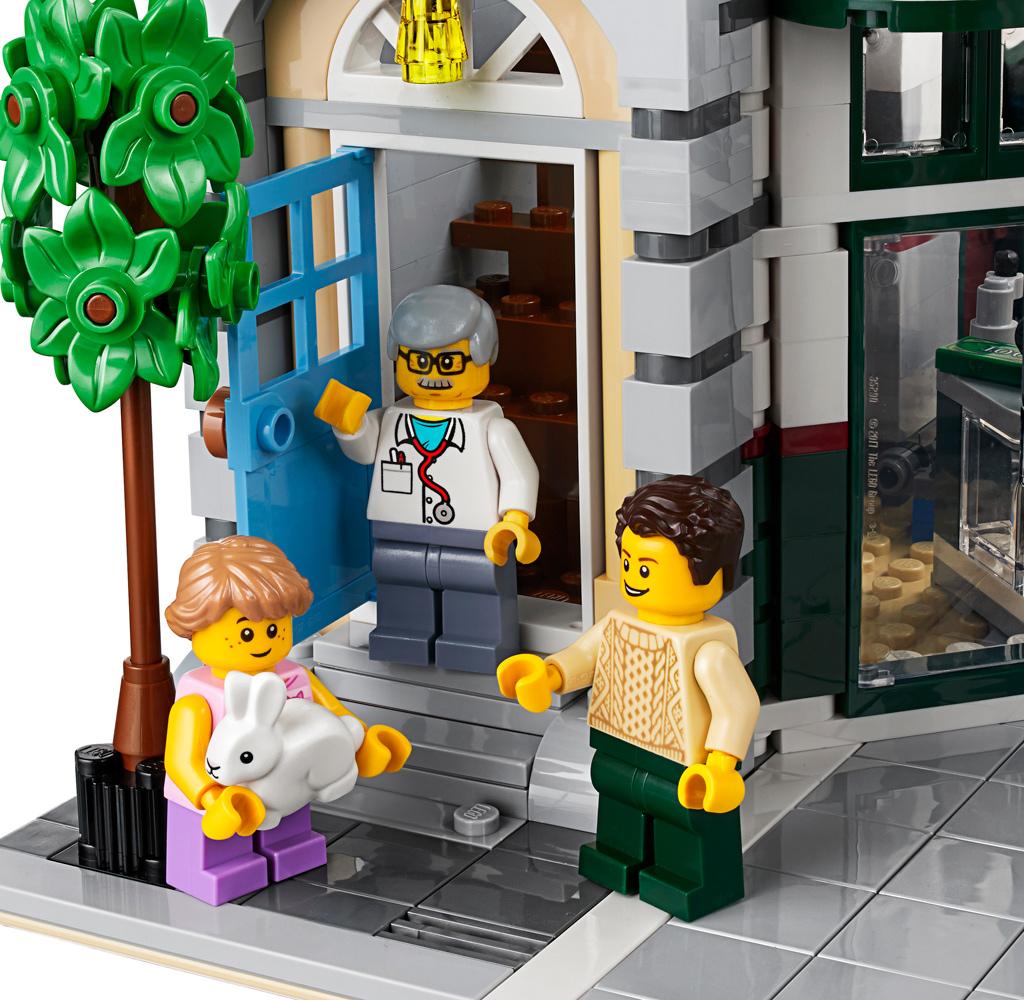 lego-creator-expert-eckgarage-10264-corner-garage-2019-modular-building-tankestelle-eingang-tierarztpraxis zusammengebaut.com