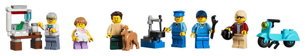 lego-creator-expert-eckgarage-10264-corner-garage-2019-modular-building-tankestelle-minifiguren zusammengebaut.com