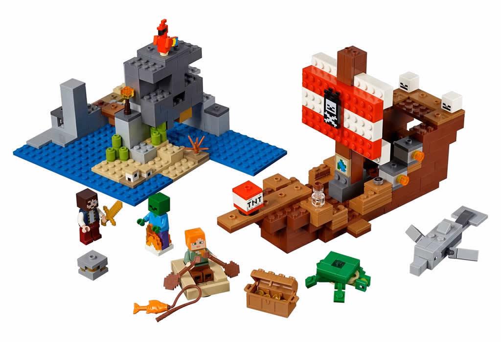 lego-minecraft-pirate-ship-adventure-21152-2019 zusammengebaut.com
