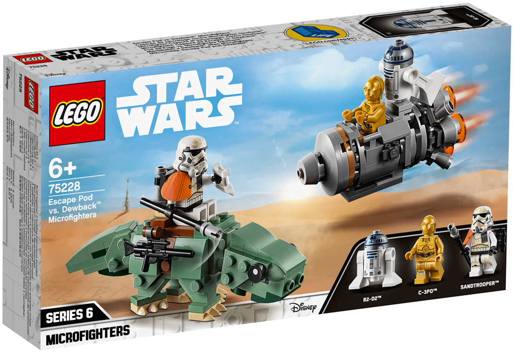 lego-star-wars-escape-pod-vs-dewback-microfighters-75228-2019 zusammengebaut.com