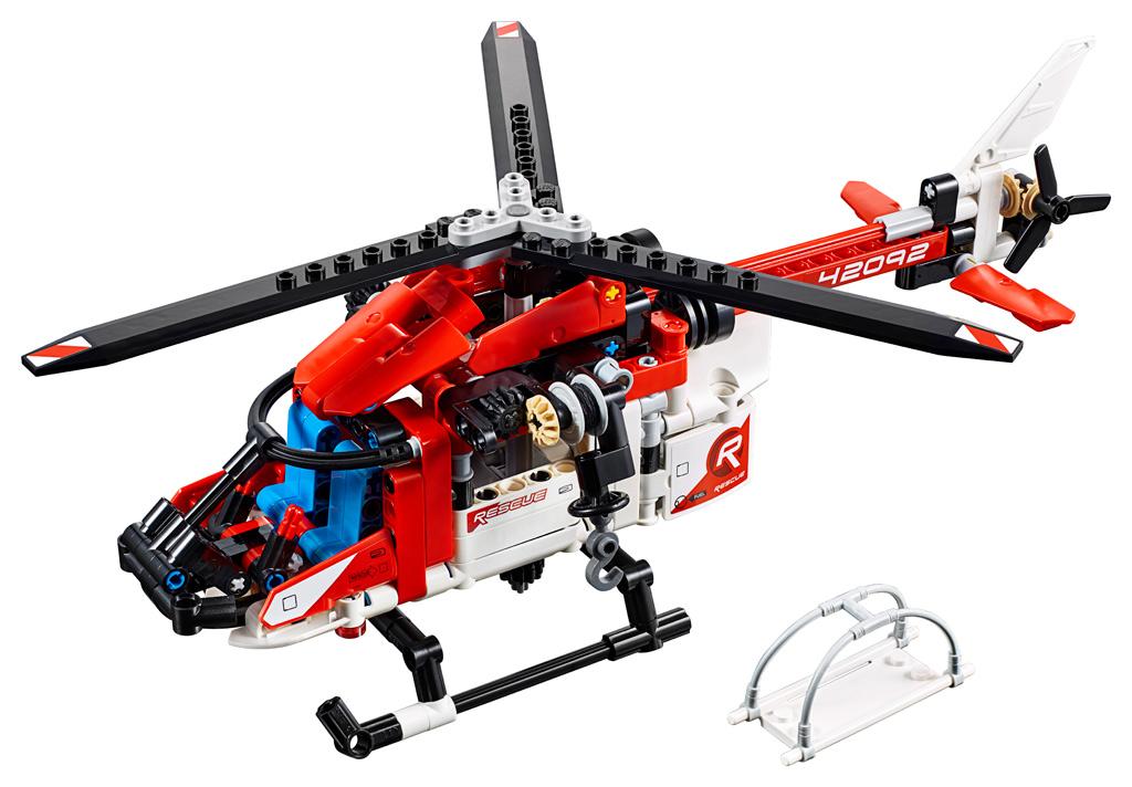lego-technic-rettungshubschrauber-42092-2019 zusammengebaut.com