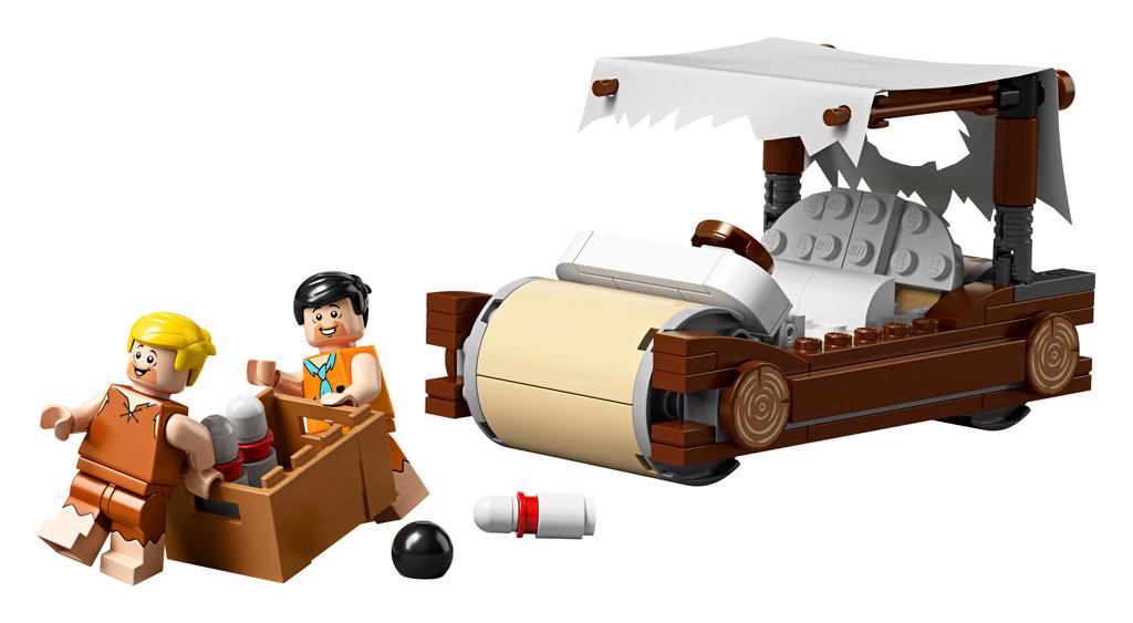 lego-ideas-the-flintstones-21316-familie-feuerstein-fahrzeug-fred-bowling-2019 zusammengebaut.com