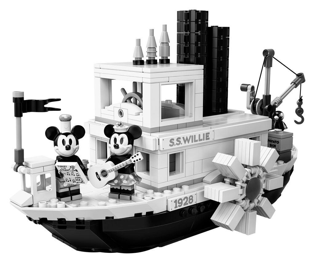 lego-ideas-steamboat-willie-set-21317-disney-mickey-mouse-damper-front.2019 zusammengebaut.com