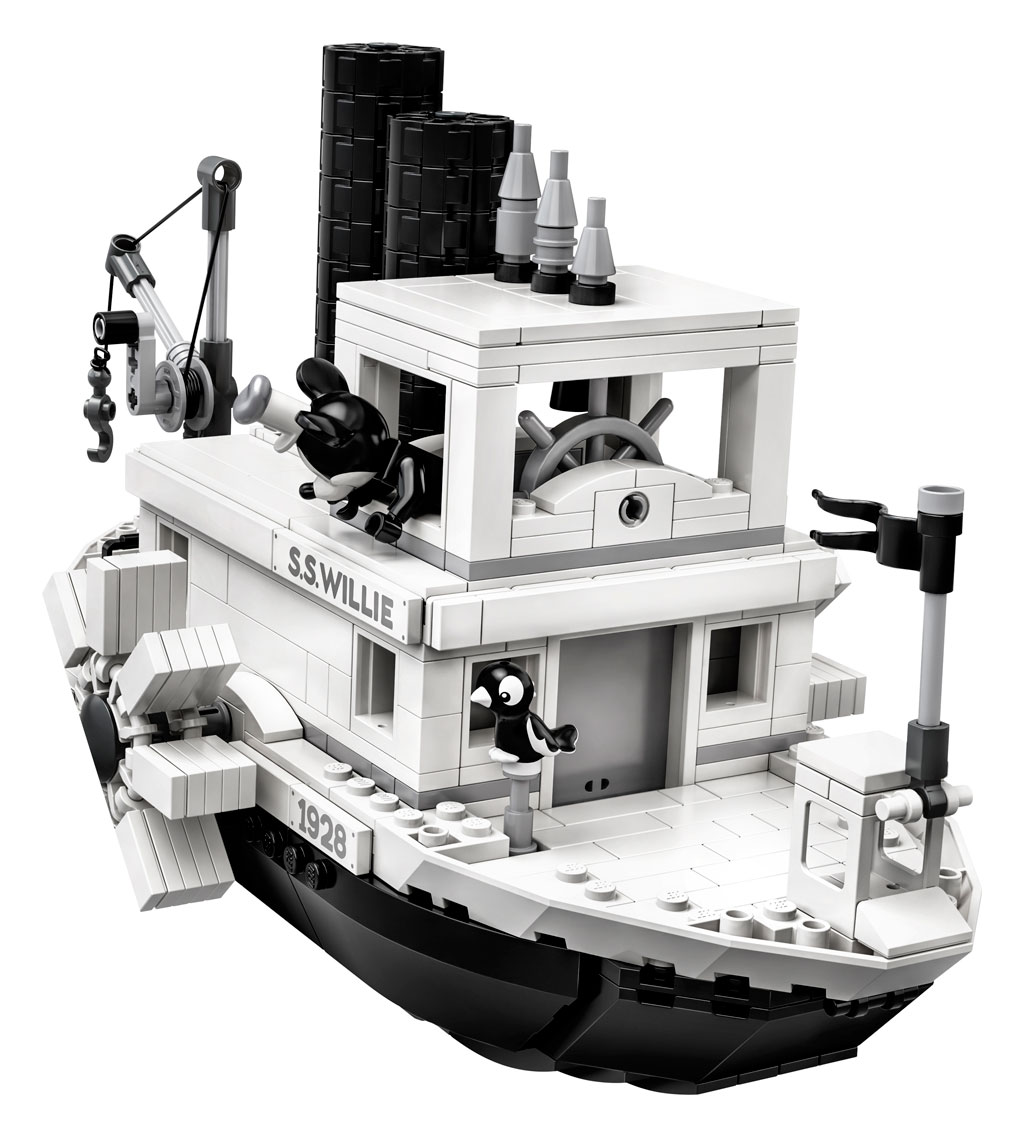 lego-ideas-steamboat-willie-set-21317-disney-mickey-mouse-front-2019 zusammengebaut.com