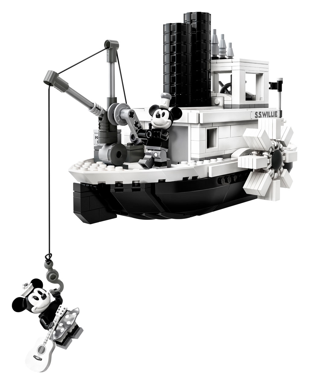 lego-ideas-steamboat-willie-set-21317-disney-mickey-mouse-minnie-haken-2019 zusammengebaut.com