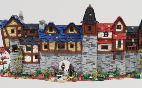 lego-moc-the-walls-of-stoneharrow-mountain-hobbit zusammengebaut.com