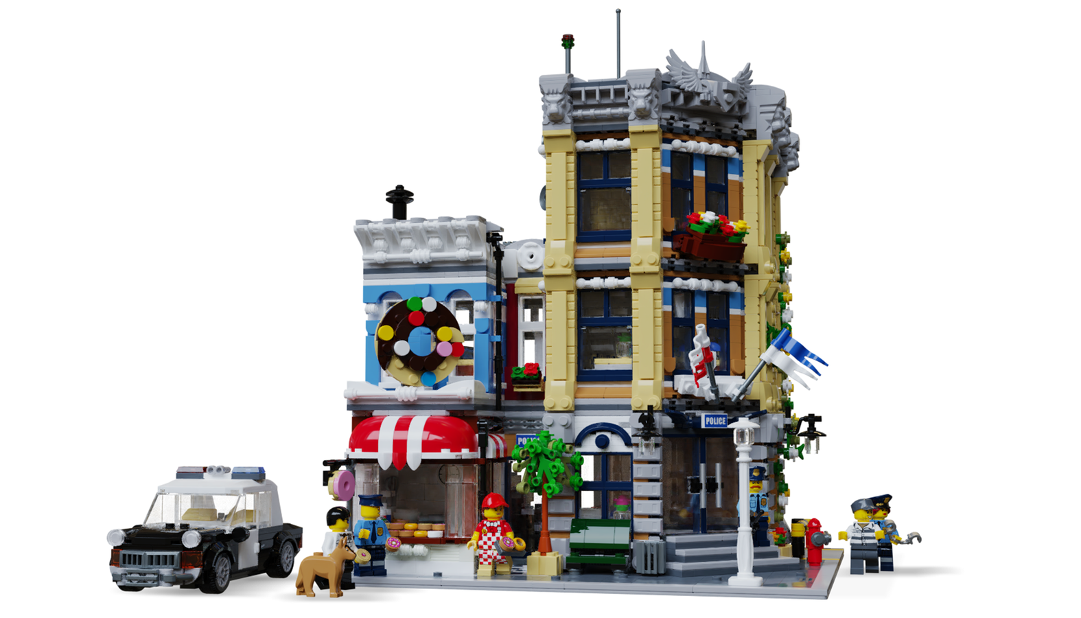 lego-modular-building-polizeistation-brickned1980-ideas-front zusammengebaut.com