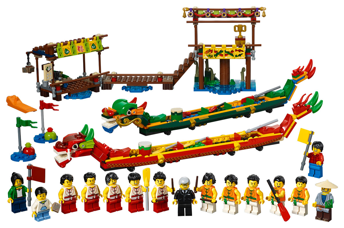 lego-dragon-boat-race-80103-inhalt-2019 zusammengebaut.com