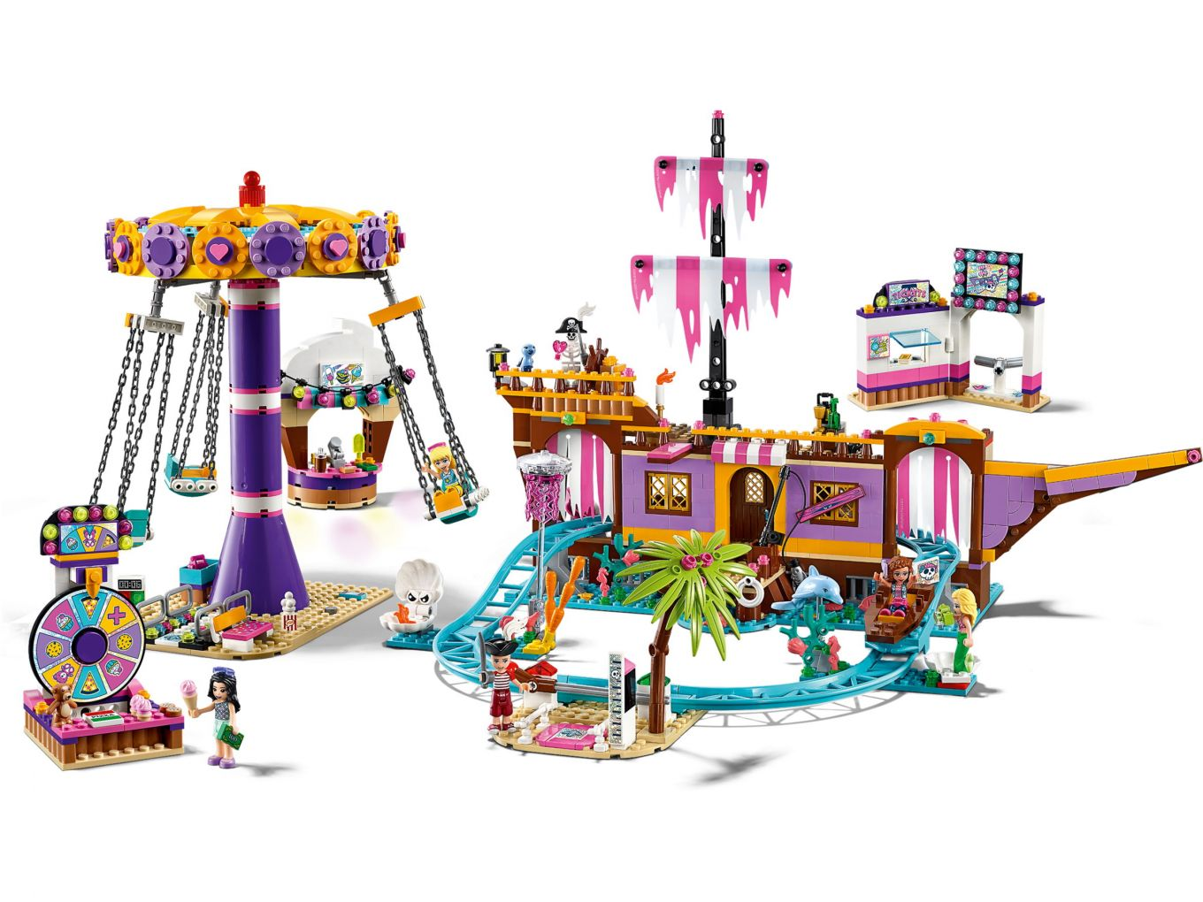 lego-friends-heartlake-city-fairground-pier-41375-inhalt-2019 zusammengebaut.com