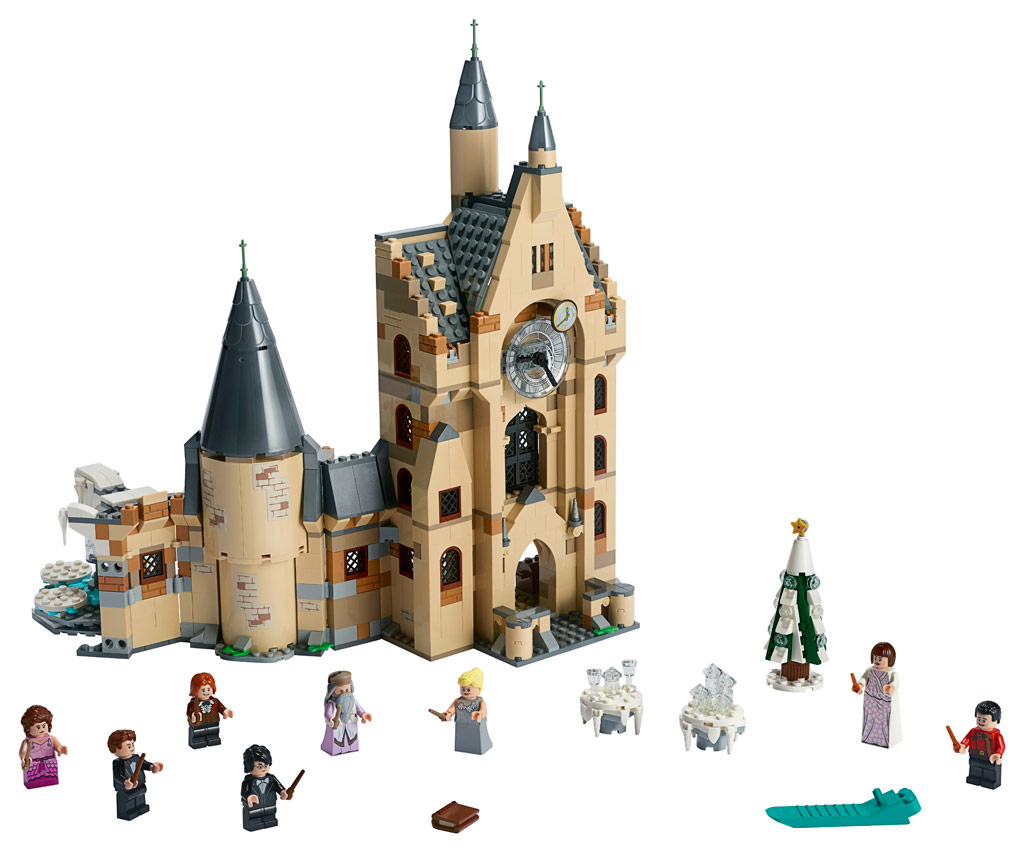 lego-harry-potter-hogwarts-clock-tower-75948-inhalt-2019 zusammengebaut.com