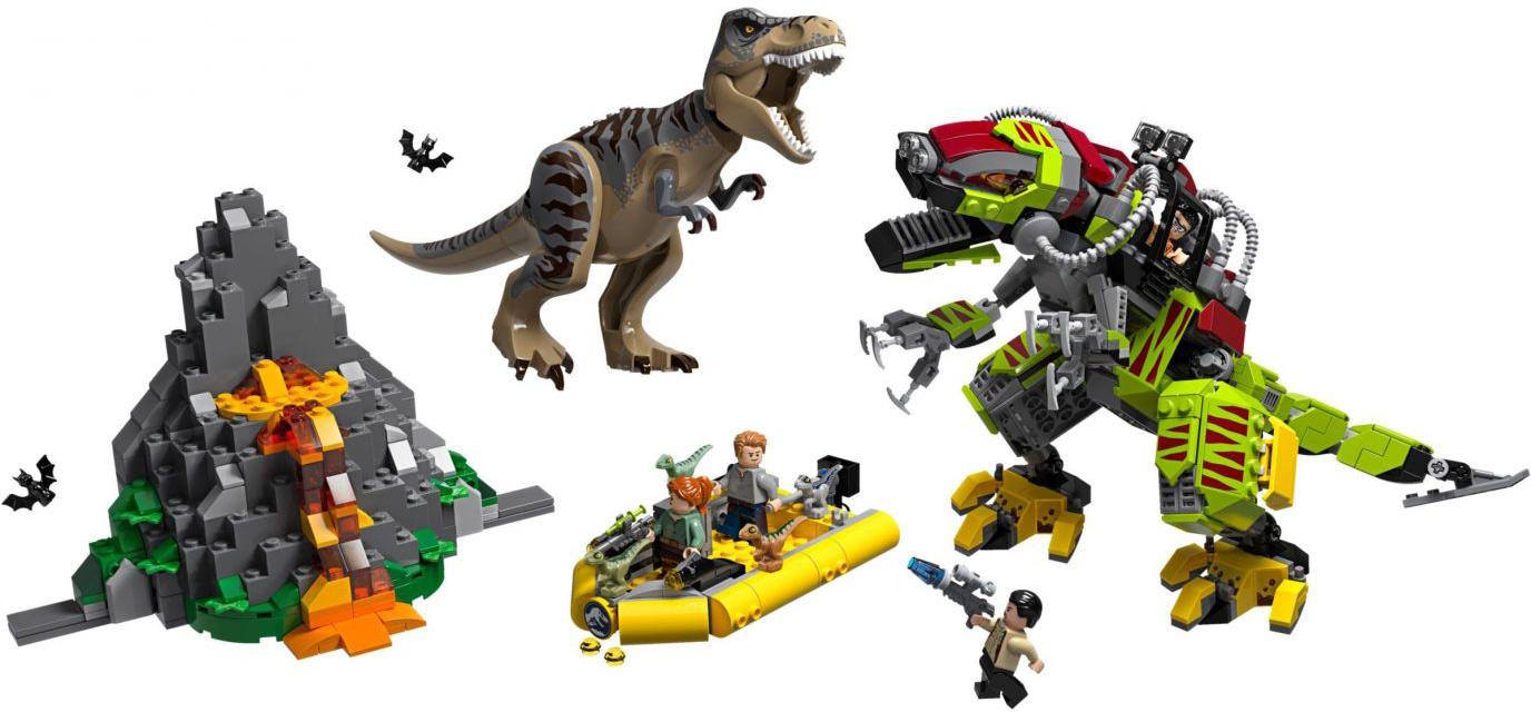 lego-jurassic-world-legend-of-isle-nublar-t-rex-vs-dino-mech-battle-75938-2019-inhalt zusammengebaut.com
