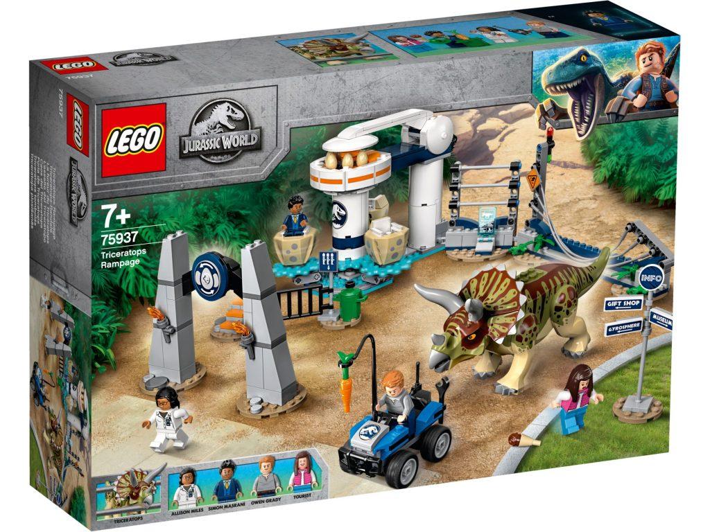 lego-jurassic-world-legend-of-isle-nublar-triceratops-rampage-75937-box-2019 zusammengebaut.com