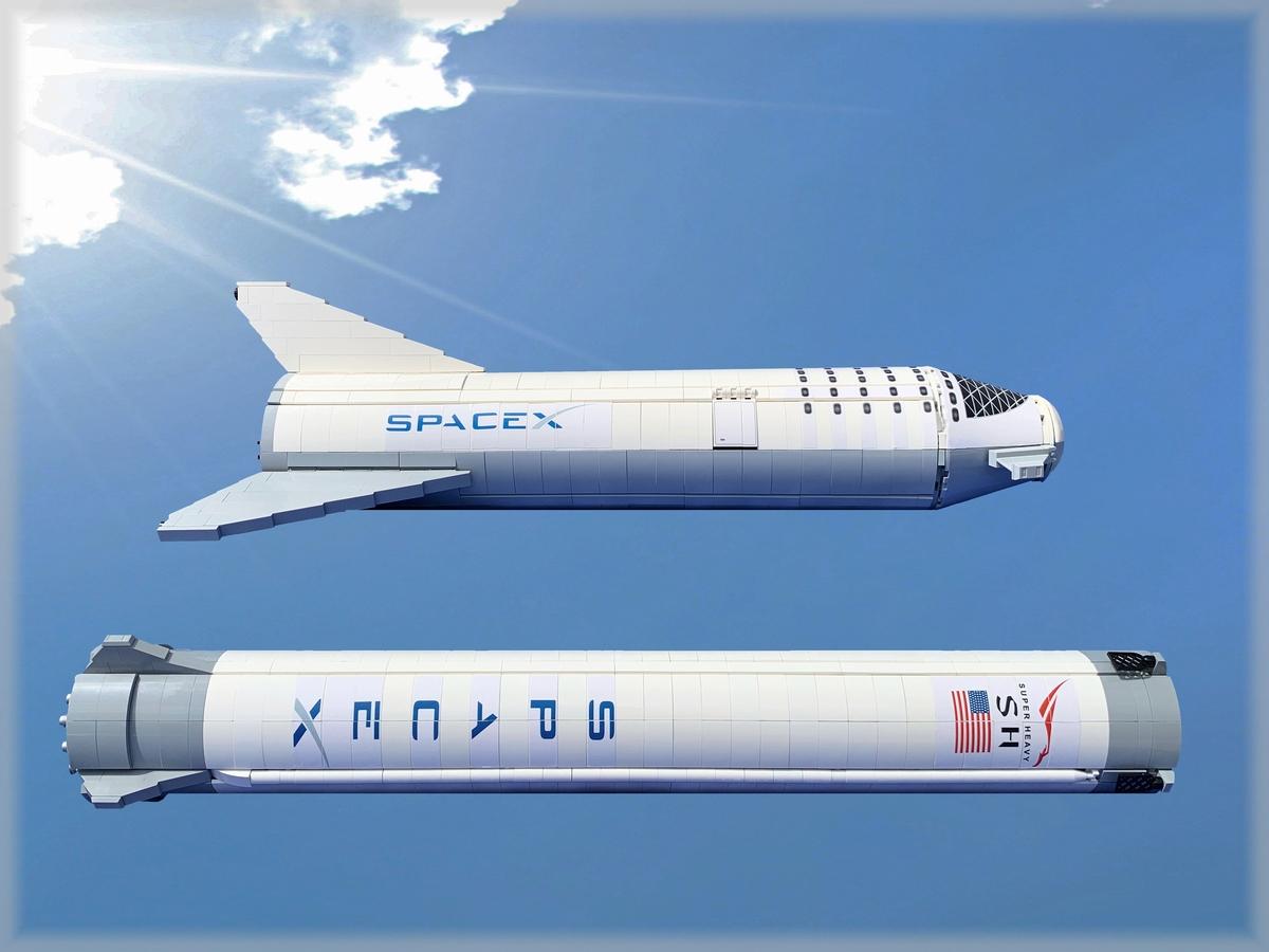 spacex-rakete-seite-lego-ideas zusammengebaut.com