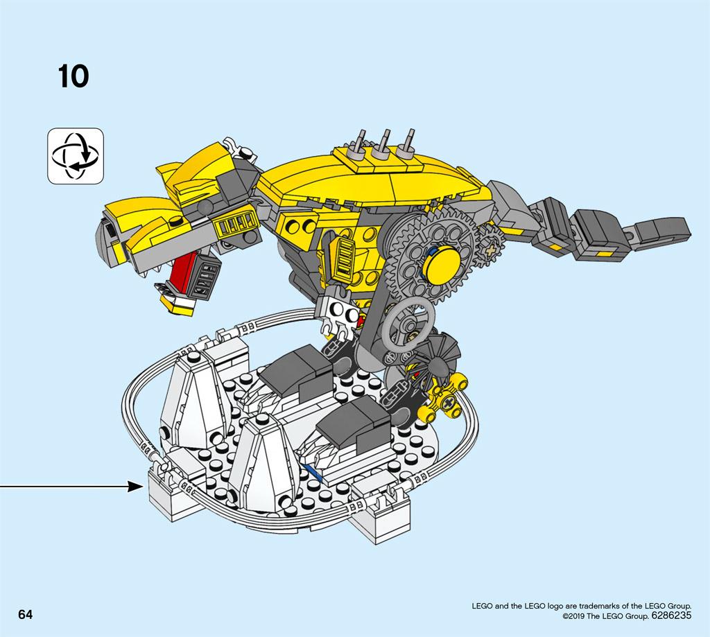 lego-house-40366-technic-dino-bauanleitung-fertig zusammengebaut.com