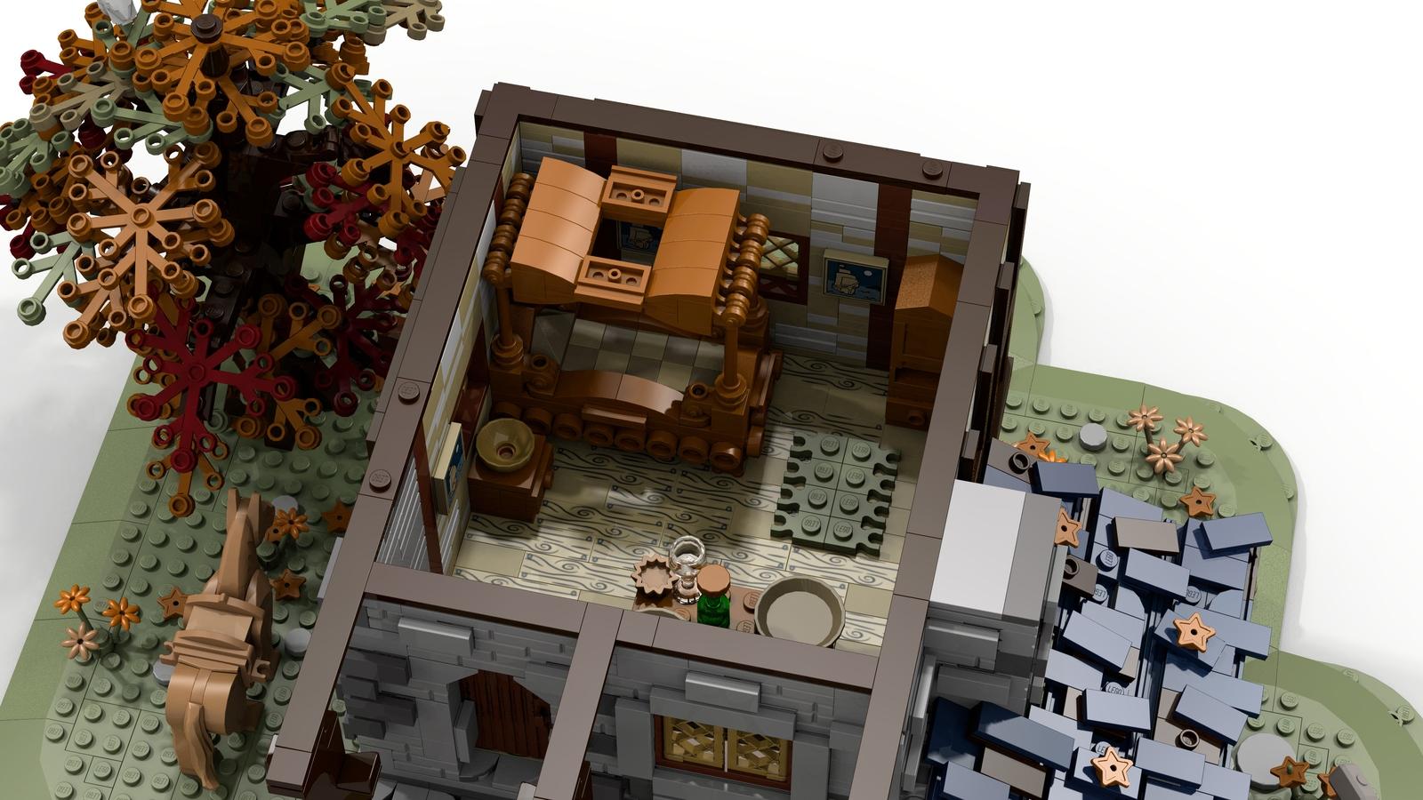 lego-ideas-medieval-blacksmith-inneneinrichtung-namirob zusammengebaut.com