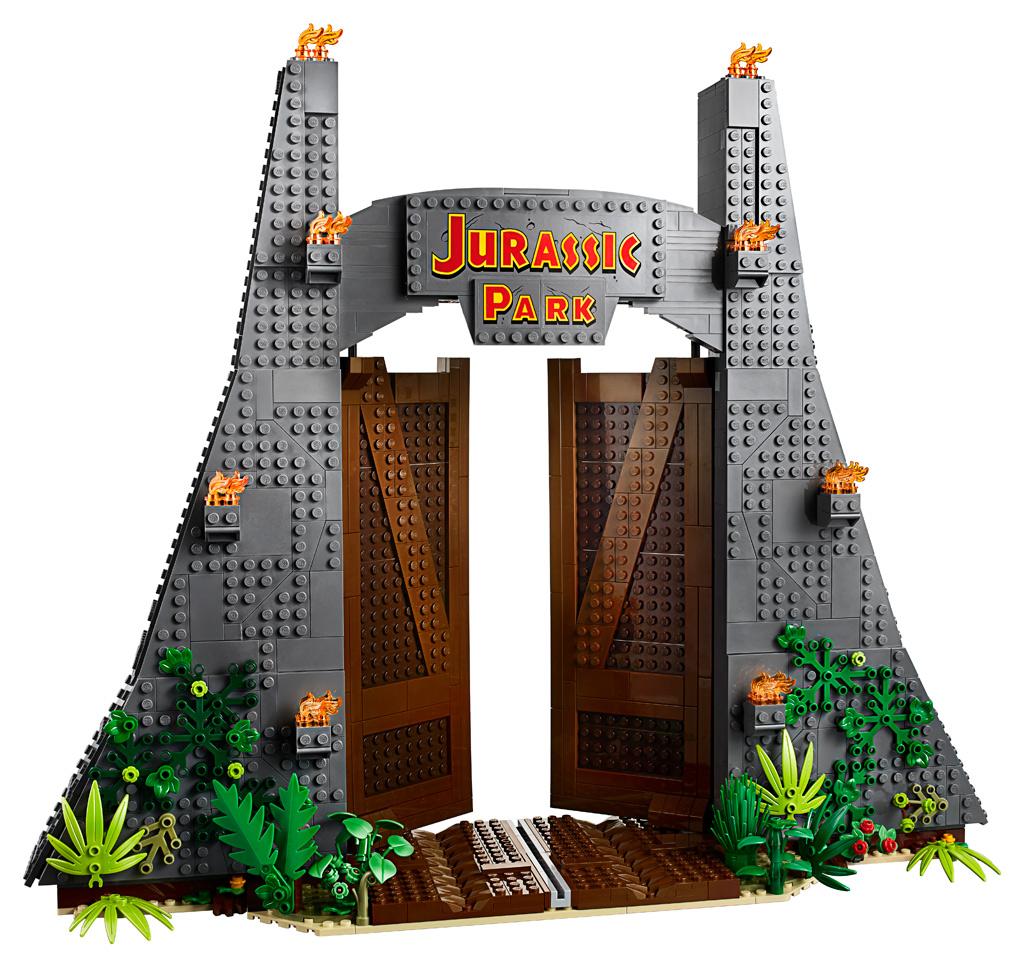 lego-jurassic-park-t-rex-rampage-75936-2019-front-eingang zusammengebaut.com