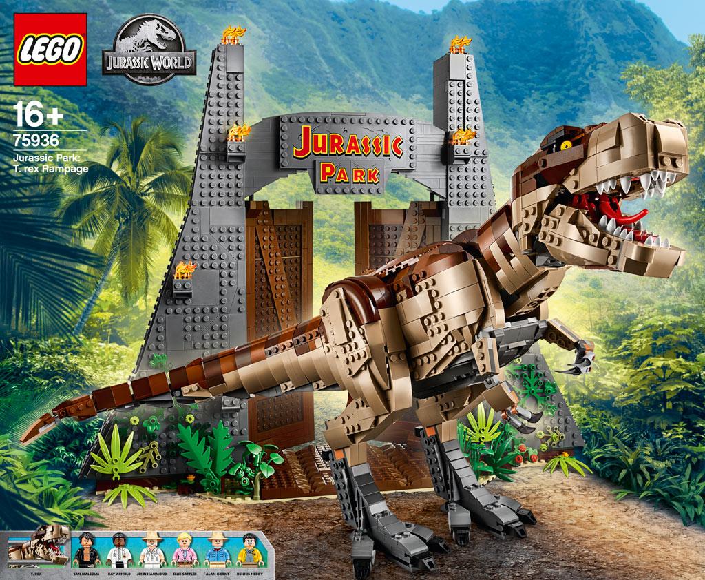 lego-jurassic-park-t-rex-rampage-75936-2019-front zusammengebaut.com