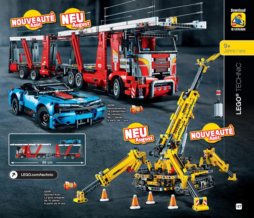 lego-katalog-juli-bis-dezember-2019-technic-spinnen-kran-42097-autotransporter-42098 zusammengebaut.com