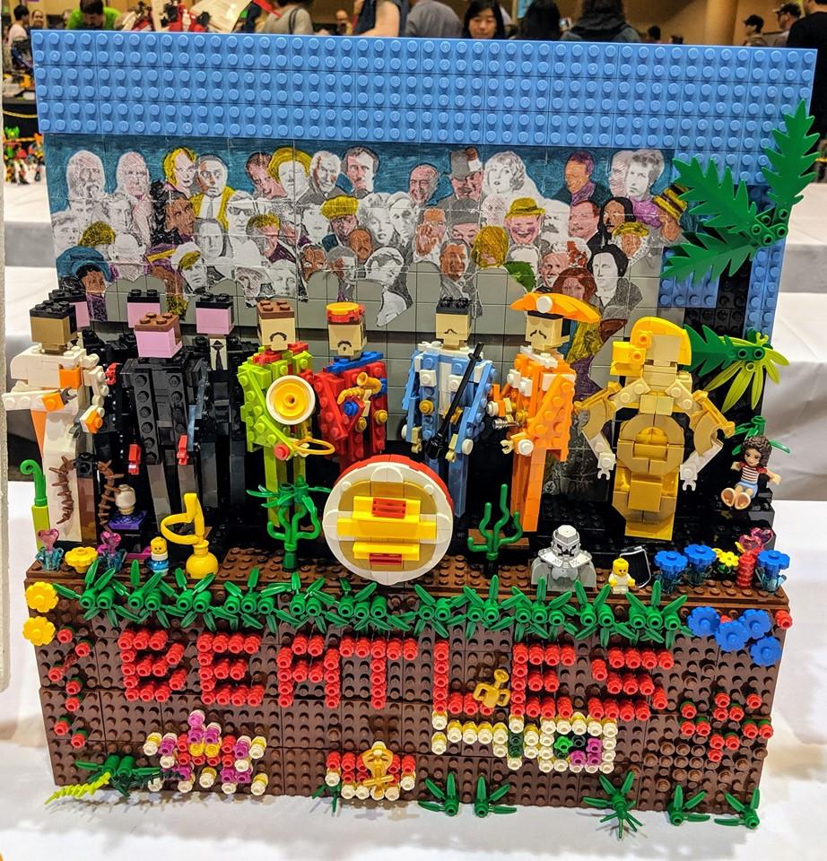 beatles-sgt-peppers-lego-album-cover zusammengebaut.com