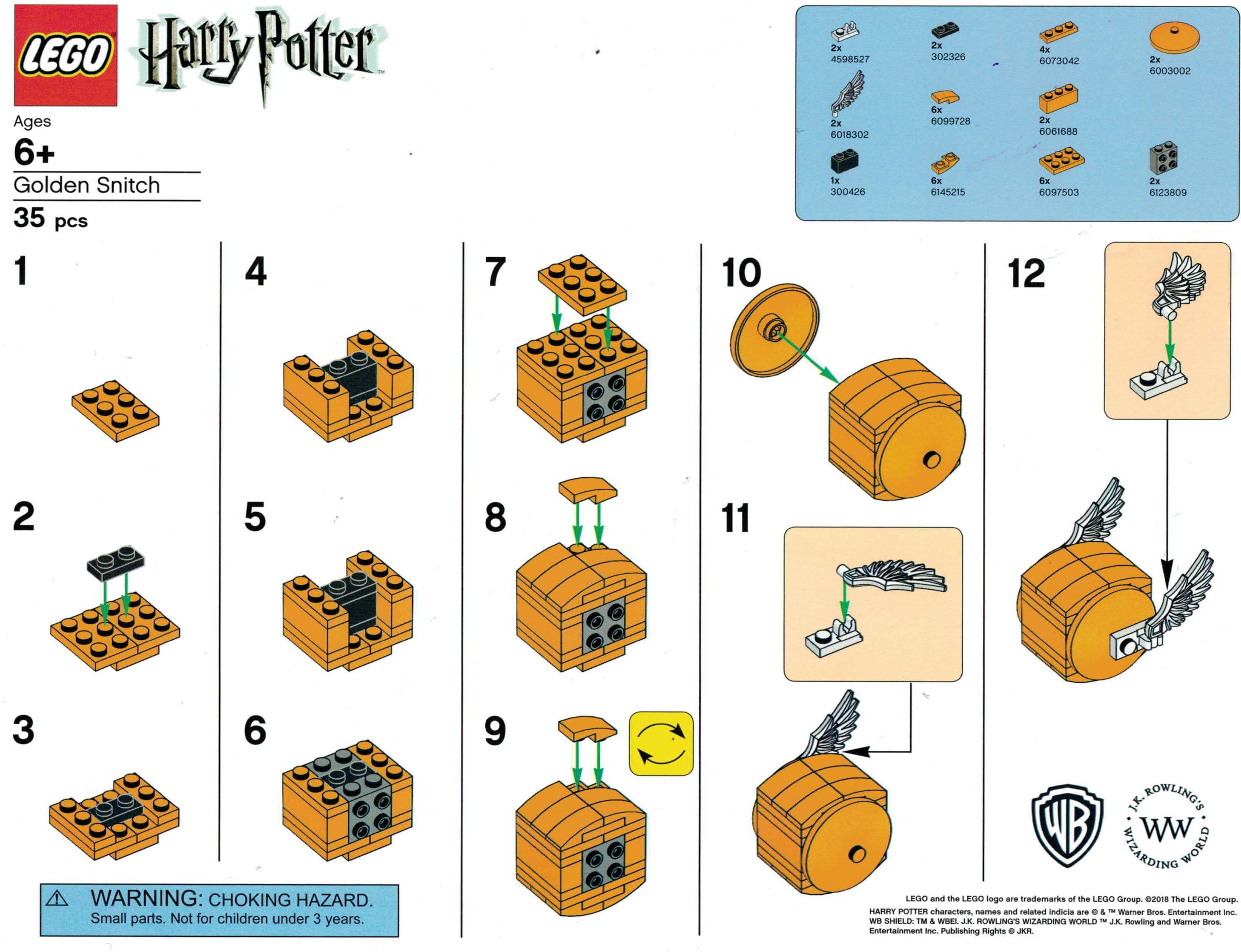 lego-harry-potter-der-goldene-schnatz-bauanleitung zusammengebaut.com
