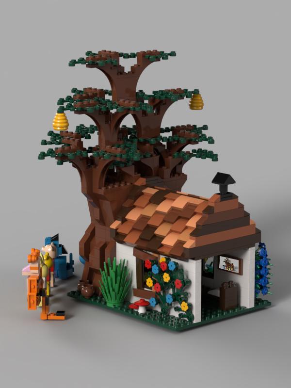 lego-ideas-winnie-the-pooh-dach-benlouisa zusammengebaut.com