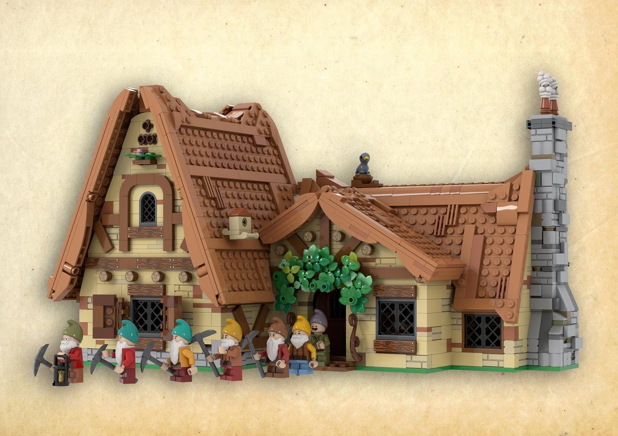 lego-ideas-sieben-zwerge-haus-the-seven-dwarfs-house-hanwasyellowfirst zusammengebaut.com