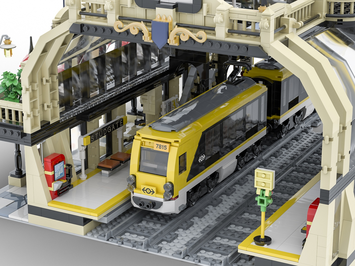 lego-ideas-the-train-station-einblick-studgate-bricky-brick zusammengebaut.com