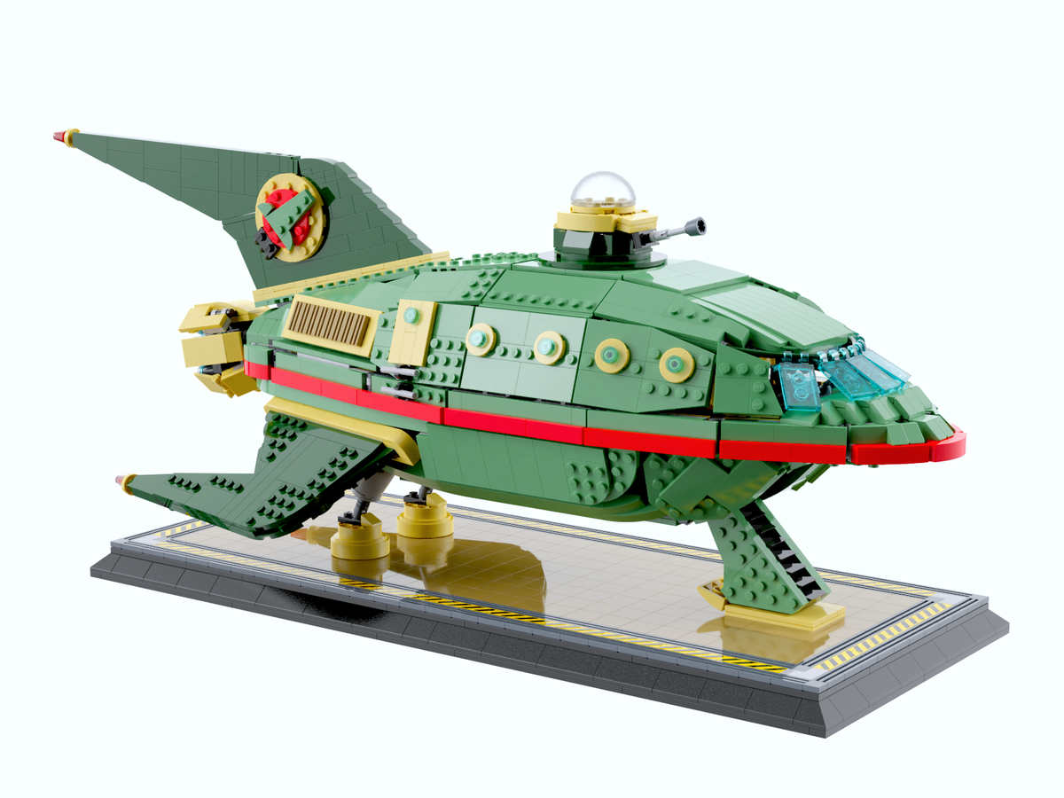 lego-ideas-futurama-planet-express-delivery-ship-nicola-stocchi zusammengebaut.com