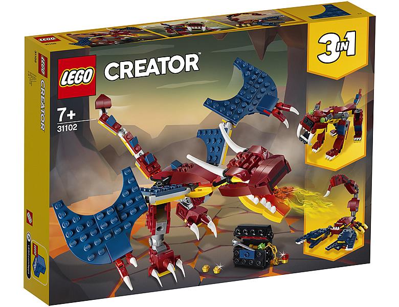 31102-lego-creator-fire-dragon-feuerdrache-2020-box zusammengebaut.com